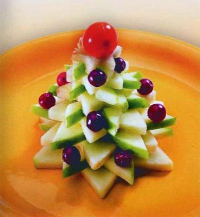 новогодняя елка из фруктов