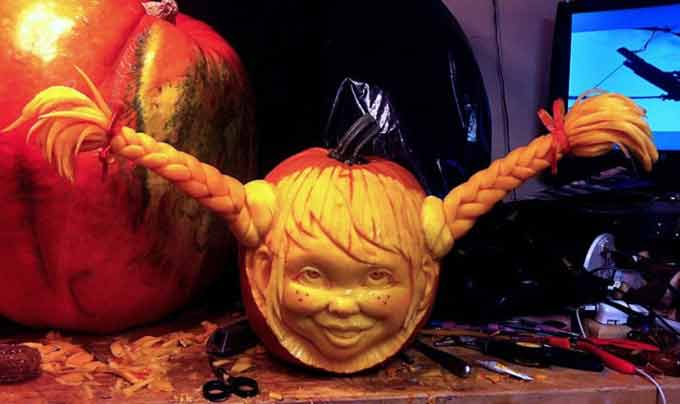 скульптура из тыквы
