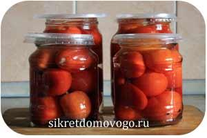 помидоры с чесноком в банке