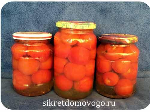 помидоры с медом и чесноком на зиму
