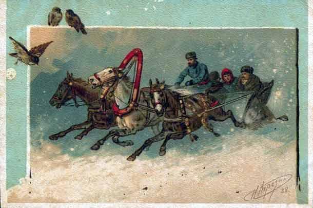 история новогодней открытки