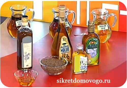 бутылочки с льняным маслом