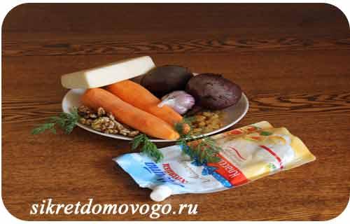 набор продуктов для салата