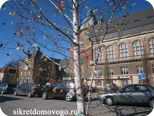 Пасхальная береза в Швеции