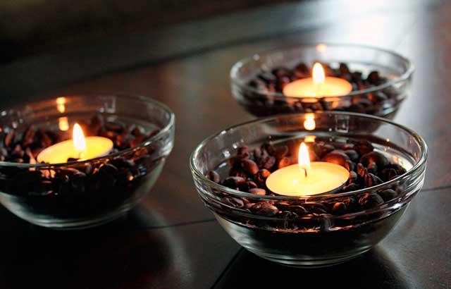 Свечи в кофе