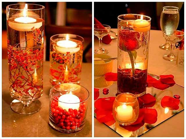 Свеча с ягодами