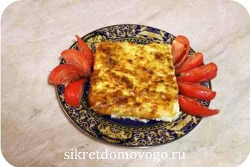 омлет из кабачков на тарелке