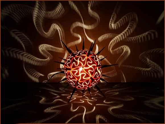 светильник из тыквы