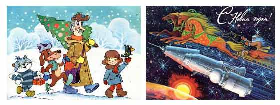 история новогодней открытки 3
