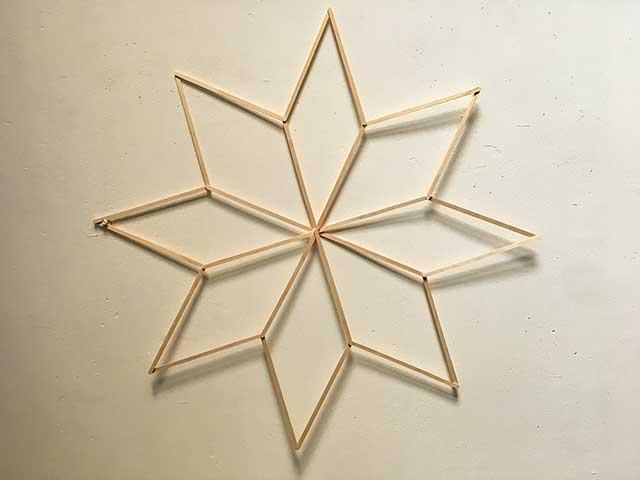 Звезда из палочек от мороженного